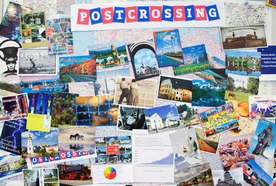 Schning's wall of postcards