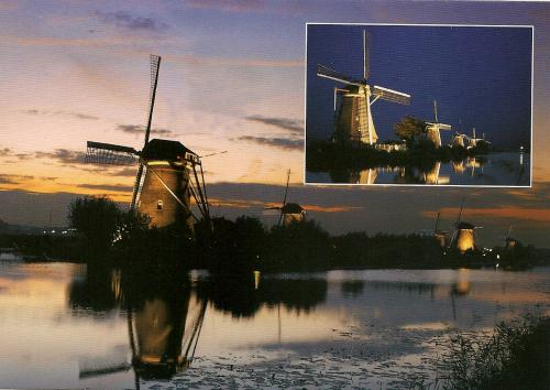Kinderdijk Village-Holland (a UNESCO World Heritage Site since 1997).