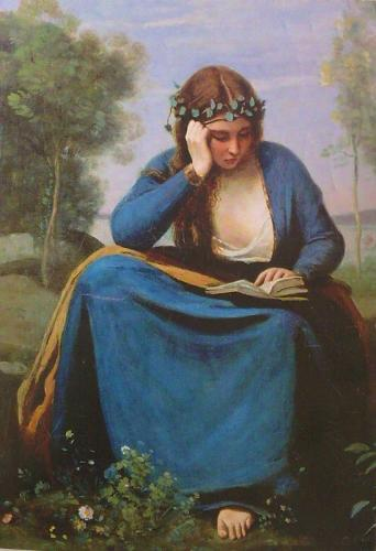 "Jean-Baptiste-Camille Corot ""Woman Reading a Book"", 1845"
