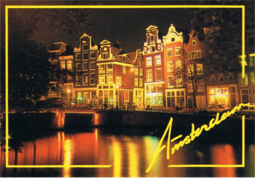 NIGHT VIEW OF AMSTERDAM.