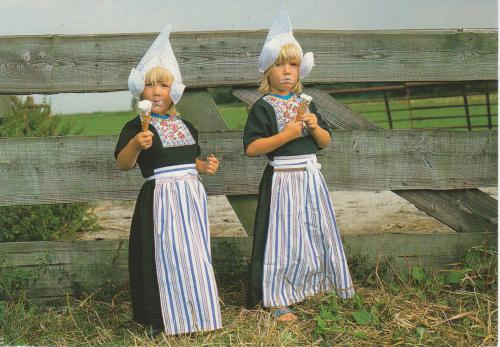 postcard nl343305 children in traditional clothes the
