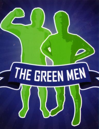 The green men, the Vancouver Canucks fans.