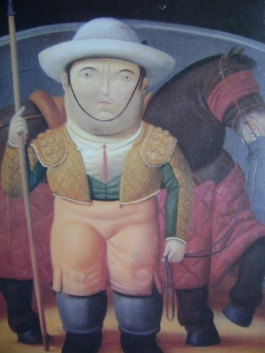 Painting by Fernando Botero (Colombia 2000)