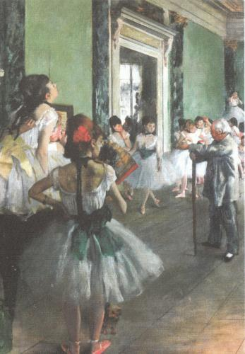 The Dancing Class by Edgar Degas. Lovely, thank you!