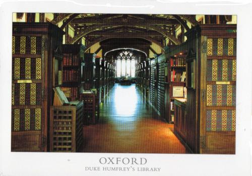 Bodleian library - interior of Duke Hunfrey's Library