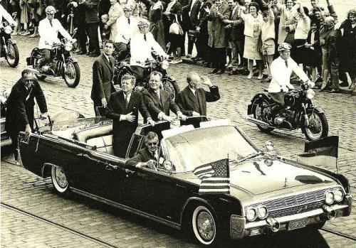 Berlin 1963, J.F. Kennedy's visit to Western part of the German capital - at that time still divided. (Germany)