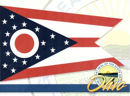 Ohio, The Buckeye State, was the 17th state admitted to the Union. Capital: Columbus. Flower: Scarlet Carnation. Bird: Cardinal. Tree: Ohio Buckeye