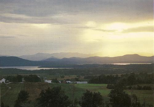 "Champlain Valley, Lake Champlain (containing monster ""Champ""!), Vermont"