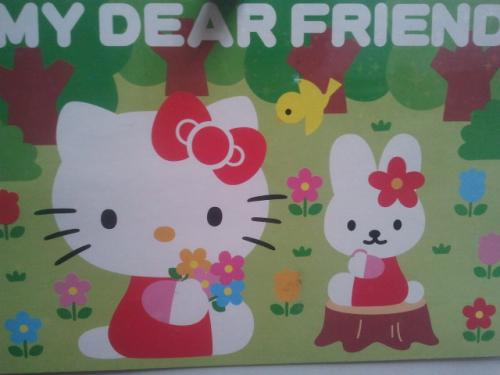 Wooow a great Hello Kitty card from Japan, with great stamps and stickers on the back. Thank you Yuki!!