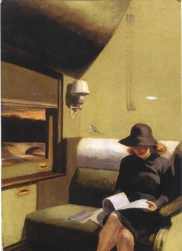 Edward Hopper: Compartment C, Car 193, 1938. Collection of IBM Corporation, Armonk, NY. Great painting!