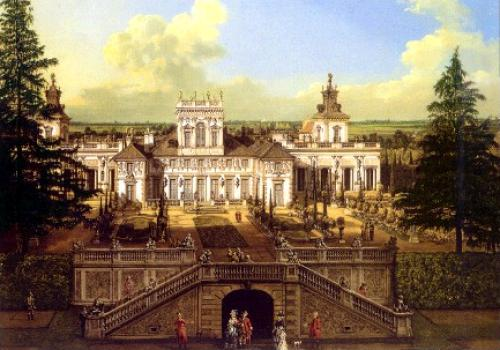 A nice view of Wilanow Palace by Canaletto.