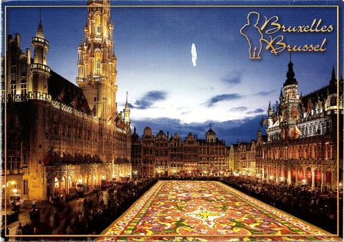 BRUSSELS: Market Place, Flower carpet