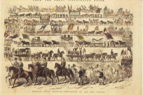 Preston Guild 1862, procession of all the trades.