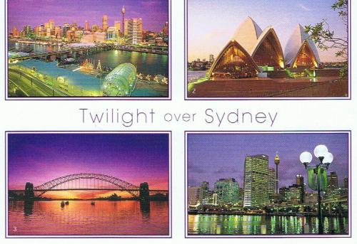 Twilight over Sydney, Australia.