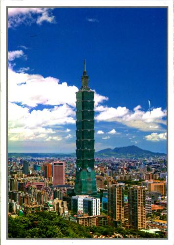 Taiwan, view of Taipei city