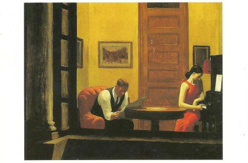 """Room in New York, 1932"", Edward Hoper. Thanks to J. Tills, USA."