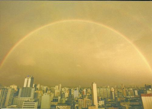 Beautiful rainbow over Curitiba, South of Brazil :)