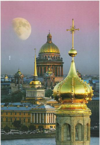 View of the Admiralty and the domes of the SS Peter and Paul and St Isaac´s Cathedral´s