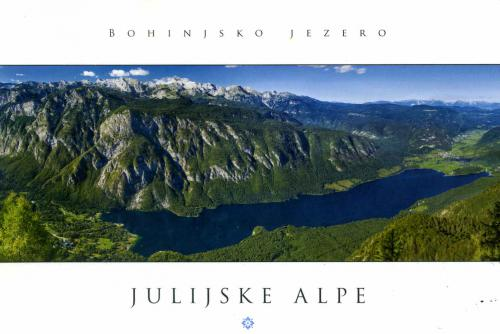 Lake Bohinj, largest lake in Slovenia & Mt. Triglav--symbol of Slovenehood, highest mountain (2864m) in Slovenia and highest peak of the Julian Alps; my honor to receive such great postcard from Paulo, founder of Postcrossing!