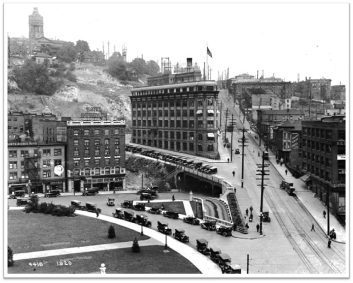Yesler Way Bridge in 1920, 10 Years After Completion (SDOT – Flickr)