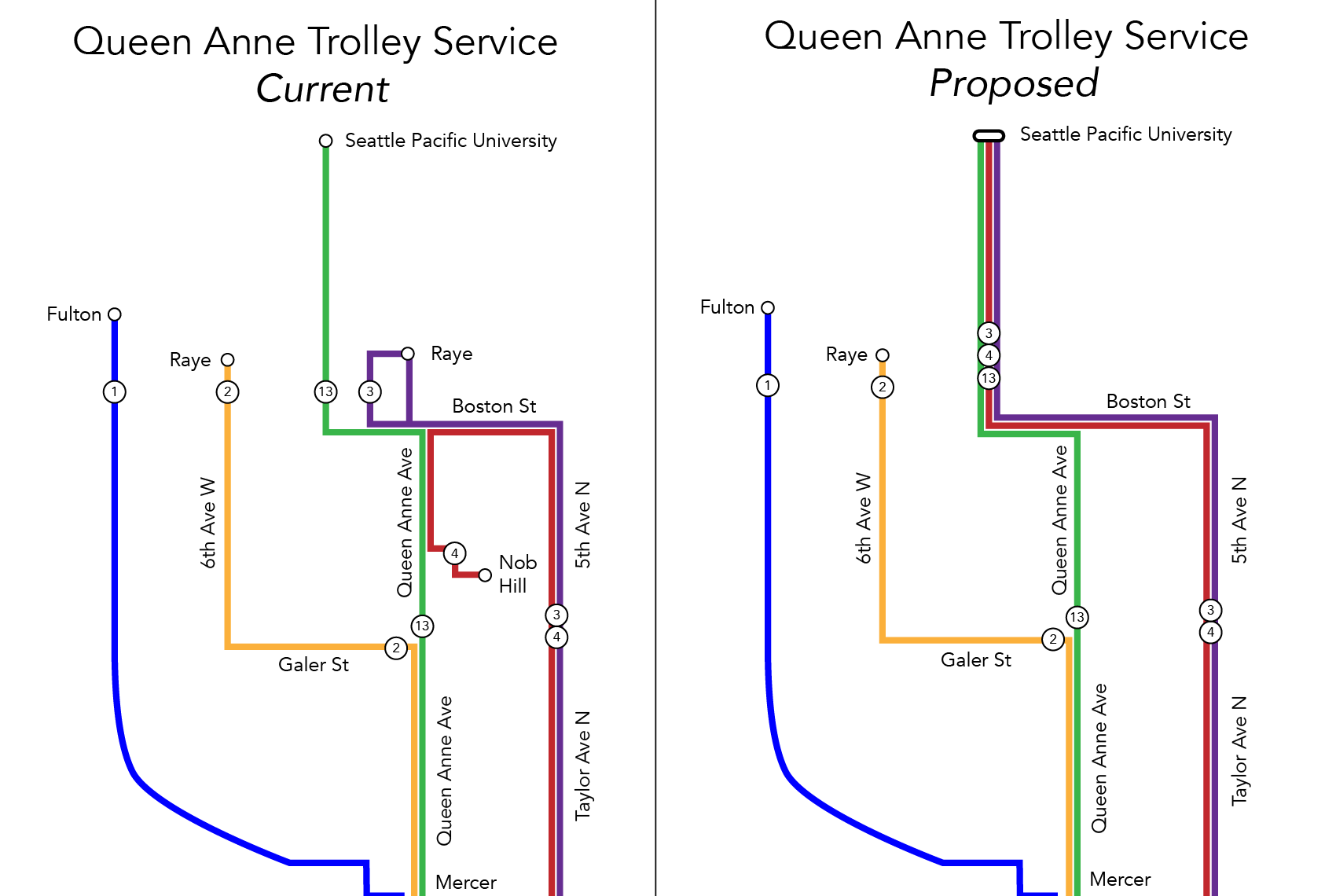 Queen Anne Trolley Restructure-01