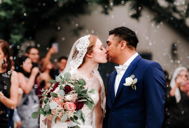 Kelly and Joseph kiss