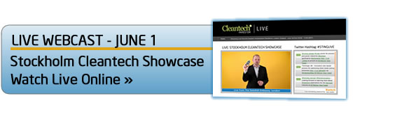 Watch the Stockholm Cleantech Showcase live online on June 1st