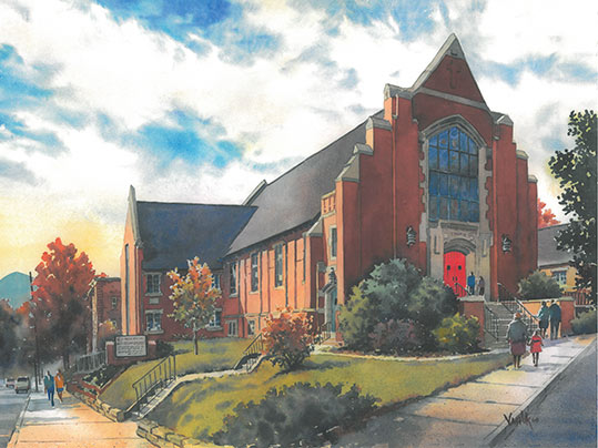 St. Mark's Lutheran Church in downtown Asheville