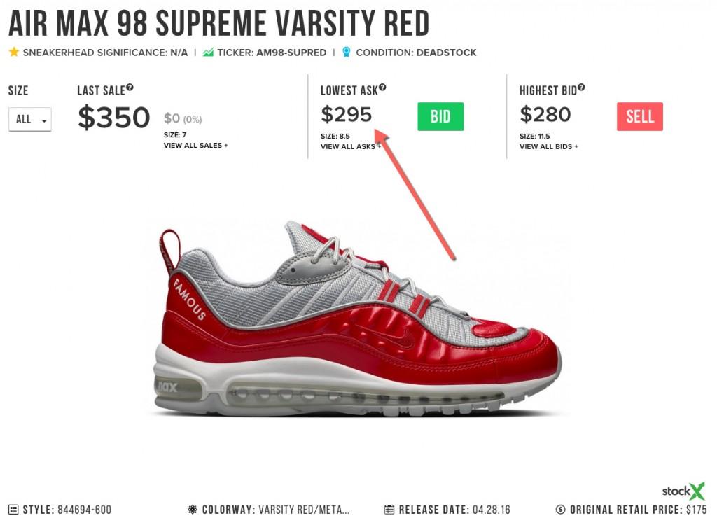 Air Max 98 Supreme Price