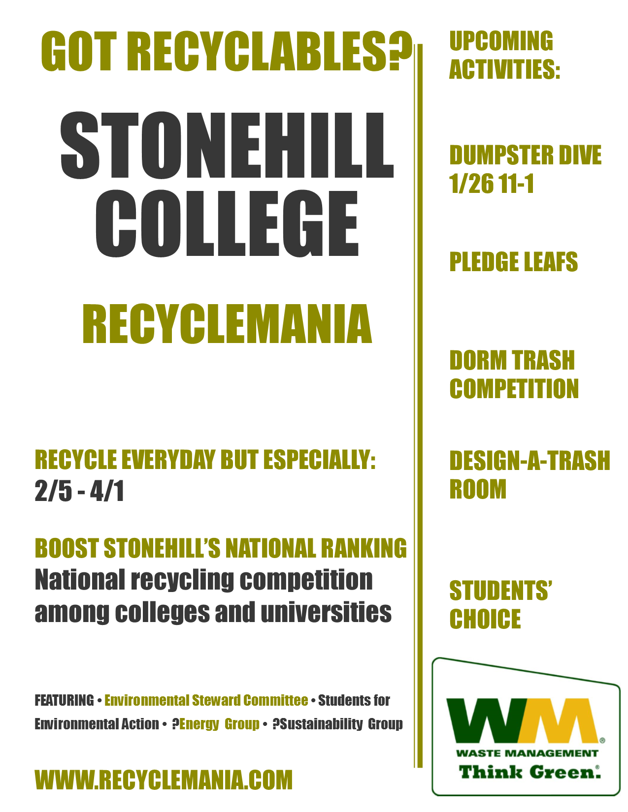 Recyclemania Events 2017