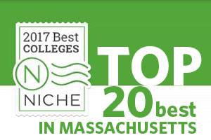 Top 20 Placement on List of Best Colleges in Massachusetts
