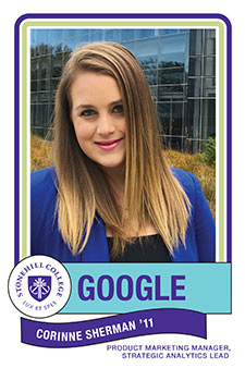 Corinne Sherman '11, Product Marketing Manager, Strategic Analytics Lead from Stonehill College