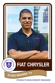 Eliseo Miranda '14, Fiat Chrysler Automobiles, Product Development Engineer from Stonehill College