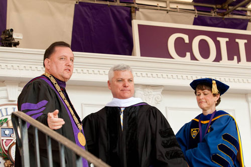 DA Daniel Conley at Stonehill's 2012 Commencement