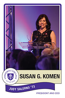 Judy Salerno, Susan G. Komen, President and CEO from Stonehill College