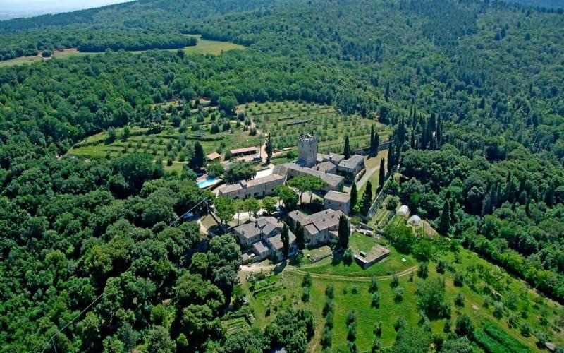 The Castello di Spannocchia