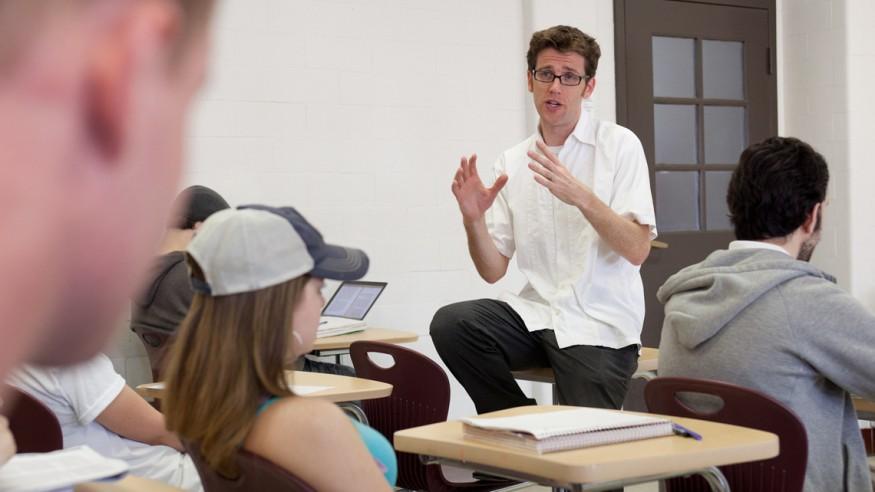 Chris Wetzel in the classroom