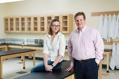 Heather Yu, Assistant Professor of Biology and Neuroscience and John McCoy, Professor of Psychology, Neuroscience Program Director