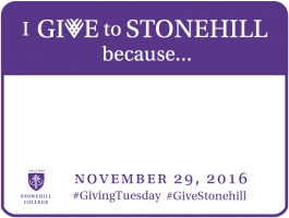 I Give to Stonehill Because