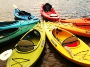 Rainbow of Kayaks