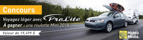 À gagner : une roulotte Prolite du modèle Mini 2018 !