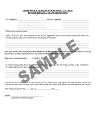 Landlord tenant legal forms landlord station 14 day notice to tenant to remedy breach or lease terminates spiritdancerdesigns Gallery