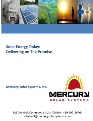 Mercury Solar and Maryland Energy Solutions from Raj Dwivedi