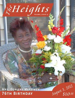 Volume 3 Issue 15 - Mrs. Durlene McCowen 76th Birthday
