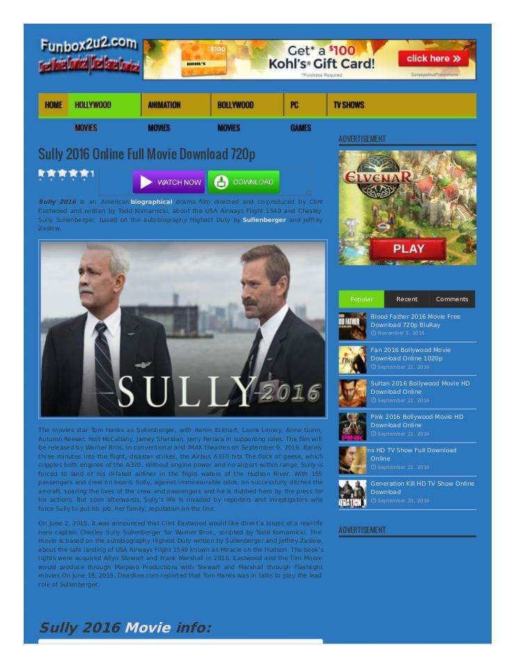 sully movie 480p free download
