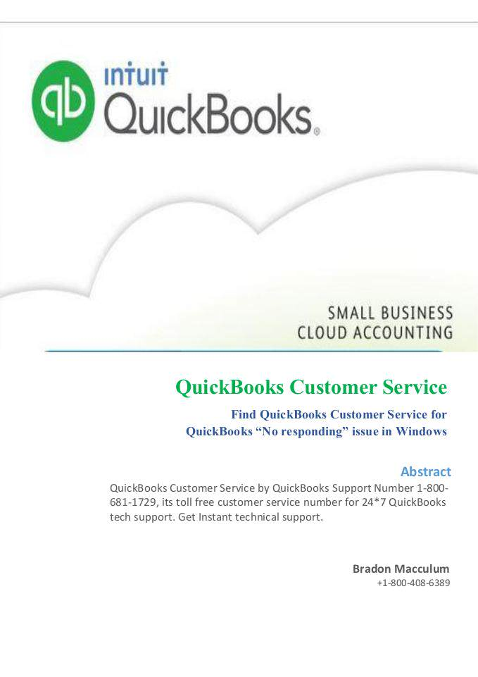 QuickBook Customer Support Phone Number 1-800-681-1729 USA - Magazine cover