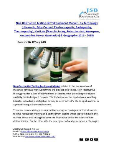 jsb market research non destructive testing