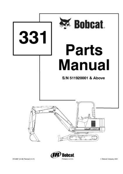 30 Bobcat 331 Parts Diagram