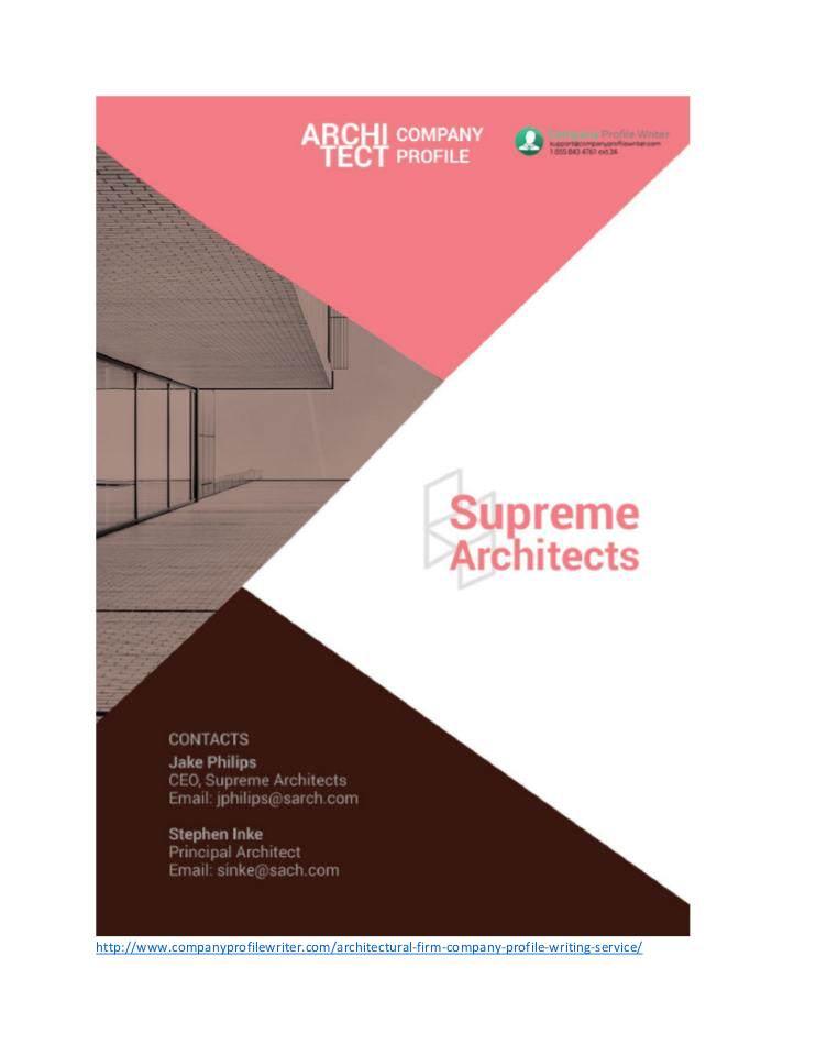 Architectural firm company profile sample edocr altavistaventures Choice Image