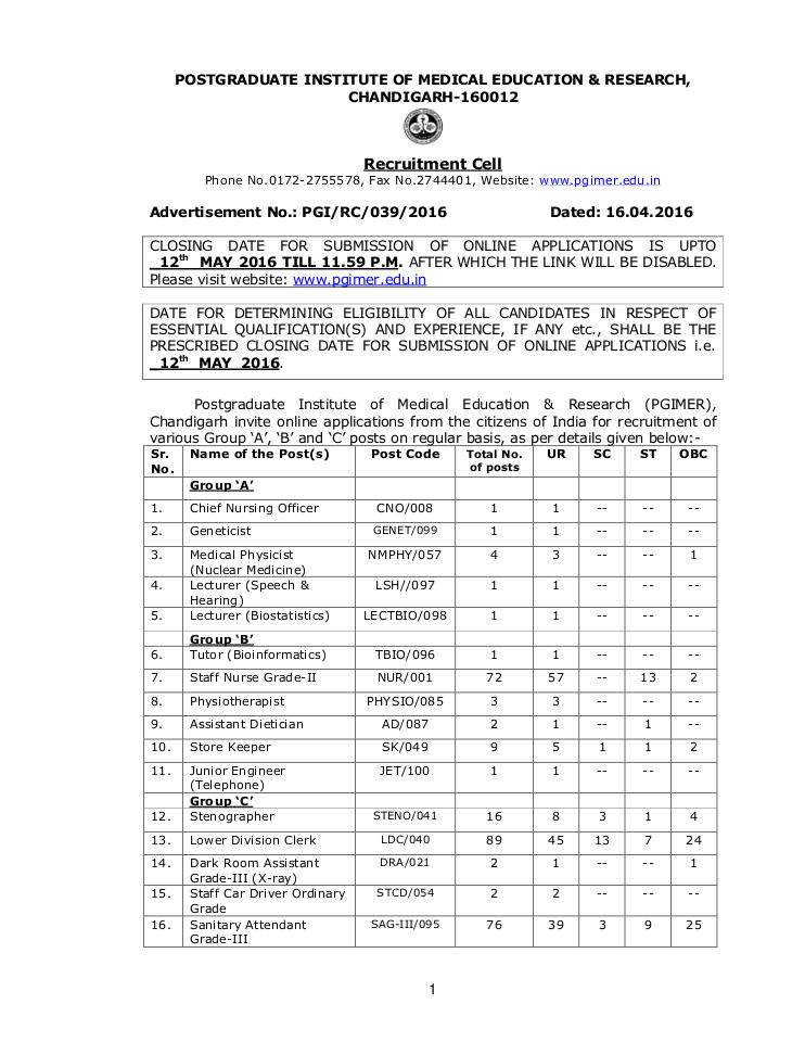 for job in chandigarh radiographer